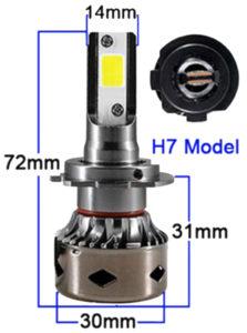 LED лампочки h7